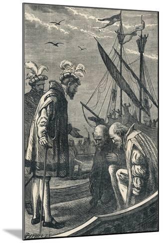 The King Visits Vasco Da Gama, 1904--Mounted Giclee Print