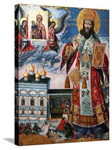 Saint Dimitry of Rostov, Second Half of the 18th C--Stretched Canvas Print