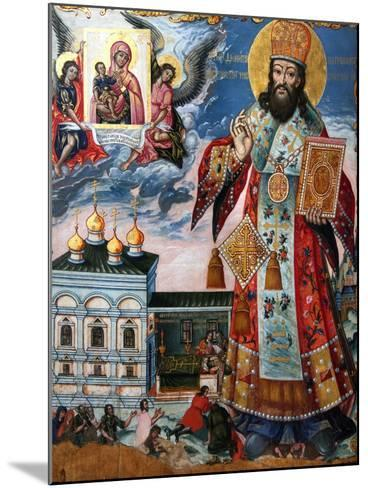 Saint Dimitry of Rostov, Second Half of the 18th C--Mounted Giclee Print