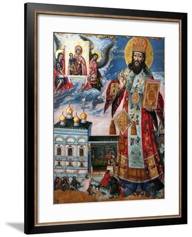 Saint Dimitry of Rostov, Second Half of the 18th C--Framed Art Print