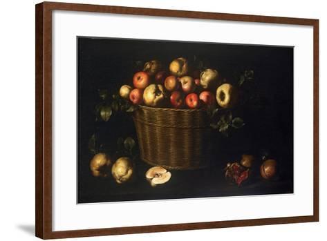 Basket with Apples, Quinces and Pomegranates-Juan de Zurbarán-Framed Art Print