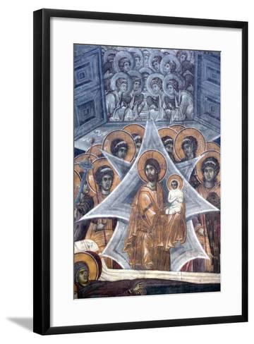 Christ with the Soul of the Virgin at the Gates of Heaven, 1321-1322--Framed Art Print