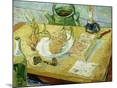 Still Life with a Drawing Board, Pipe, Onions and Sealing Wax-Vincent van Gogh-Mounted Giclee Print