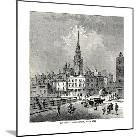 Ray Street, 1820--Mounted Giclee Print
