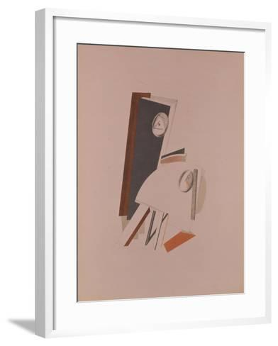 The Cowards. Figurine for the Opera Victory over the Sun by A. Kruchenych, 1920-1921-El Lissitzky-Framed Art Print
