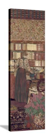 The Privacy. Decoration for the Library of Dr. Vaquez-?douard Vuillard-Stretched Canvas Print