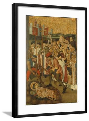 The Invention of the Body of Saint Stephen--Framed Art Print