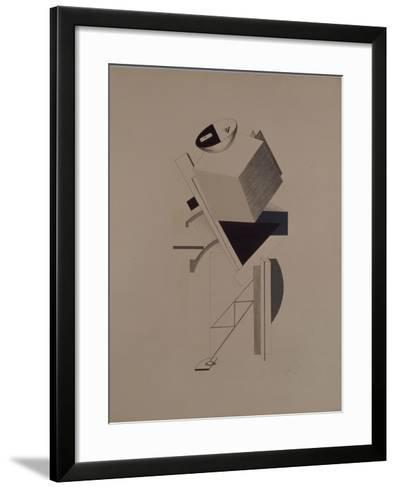 Strong Guy. Figurine for the Opera Victory over the Sun by A. Kruchenykh, 1920-1921-El Lissitzky-Framed Art Print