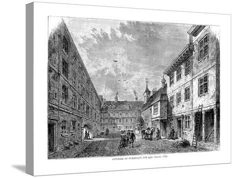 Interior of Furnival's Inn. 1754--Stretched Canvas Print