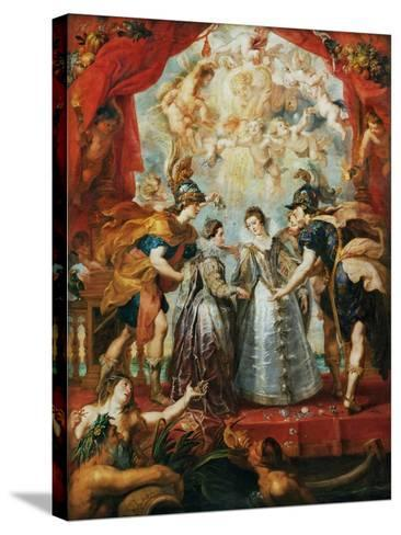The Exchange of the Princesses at the Spanish Border-Peter Paul Rubens-Stretched Canvas Print