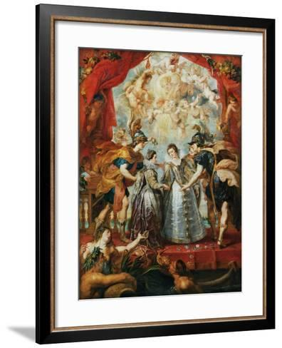 The Exchange of the Princesses at the Spanish Border-Peter Paul Rubens-Framed Art Print