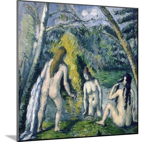 Trois Baigneuses (Three Bather)-Paul C?zanne-Mounted Giclee Print