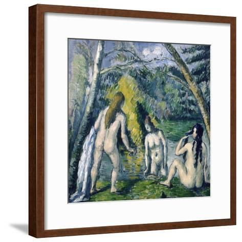 Trois Baigneuses (Three Bather)-Paul C?zanne-Framed Art Print