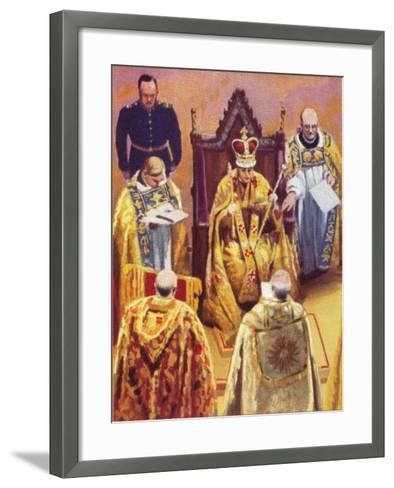 The Coronation of King George VI (1895-195), 12 May, 1937--Framed Art Print