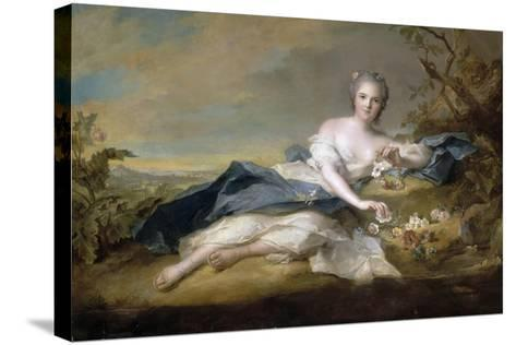 Princess Anne Henriette of France (1727-175)-Jean-Marc Nattier-Stretched Canvas Print