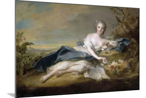 Princess Anne Henriette of France (1727-175)-Jean-Marc Nattier-Mounted Giclee Print