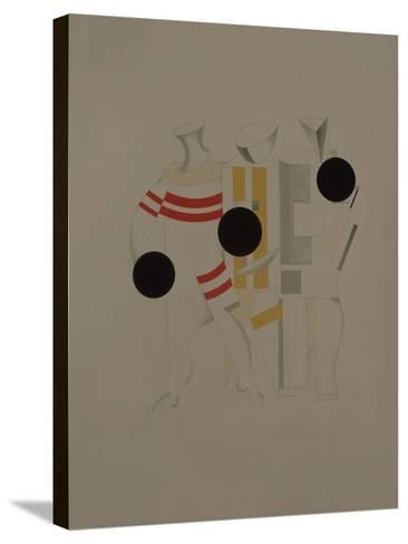 Sportsmen, Figurine for the Opera Victory over the Sun by A. Kruchenykh, 1920-1921-El Lissitzky-Stretched Canvas Print