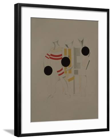 Sportsmen, Figurine for the Opera Victory over the Sun by A. Kruchenykh, 1920-1921-El Lissitzky-Framed Art Print