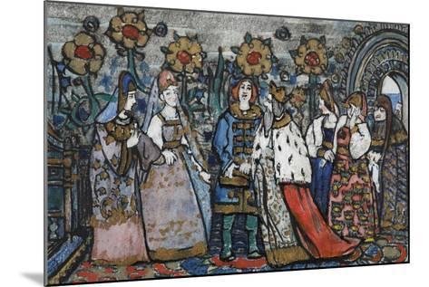 Illustration for the Fairy Tale of the Tsar Saltan by A. Pushkin-Sergei Vasilyevich Malyutin-Mounted Giclee Print
