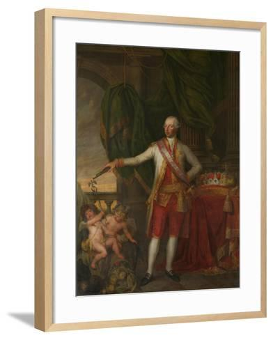 Portrait of Emperor Joseph II (1741-179), Second Half of the 18th C-Gertrude Cornélie Marie de Pélichy-Framed Art Print