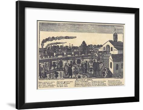 The First Rail Moscow - St. Petersburg--Framed Art Print
