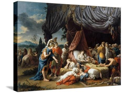 Alexander the Great and Hephaestion at the Deathbed of the Wife of Darius III-Louis-Jean-Fran?ois Lagren?e-Stretched Canvas Print