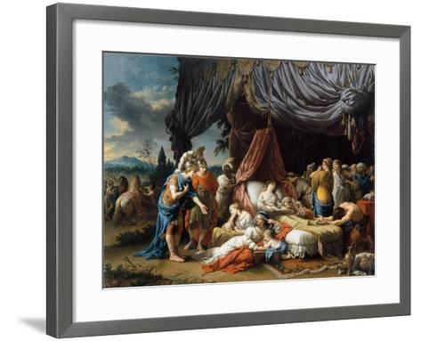 Alexander the Great and Hephaestion at the Deathbed of the Wife of Darius III-Louis-Jean-Fran?ois Lagren?e-Framed Art Print