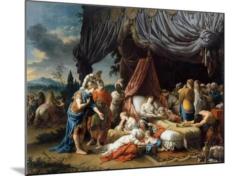 Alexander the Great and Hephaestion at the Deathbed of the Wife of Darius III-Louis-Jean-Fran?ois Lagren?e-Mounted Giclee Print