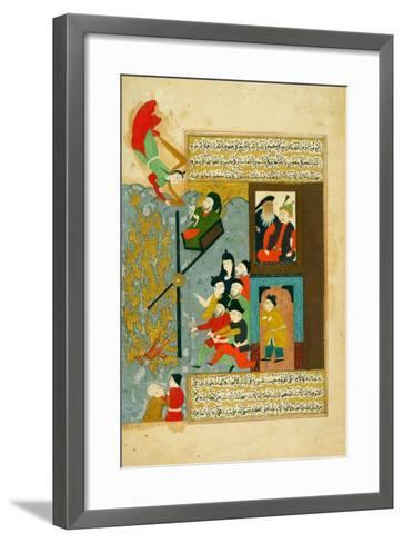 Abraham Cast into the Fire--Framed Art Print