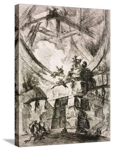 From the Series the Imaginary Prisons (Le Carceri D'Invenzion)-Giovanni Battista Piranesi-Stretched Canvas Print