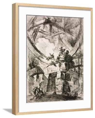 From the Series the Imaginary Prisons (Le Carceri D'Invenzion)-Giovanni Battista Piranesi-Framed Art Print