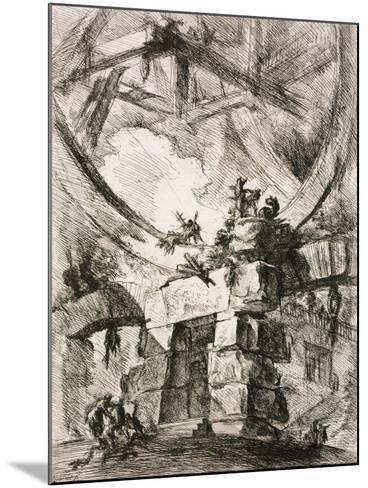 From the Series the Imaginary Prisons (Le Carceri D'Invenzion)-Giovanni Battista Piranesi-Mounted Giclee Print