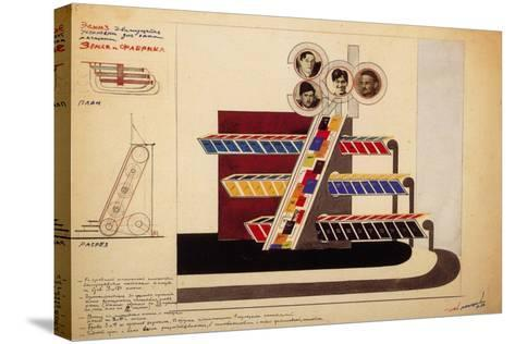 Movable Display for the Bookstore Window of the Publishing Land and Factory-El Lissitzky-Stretched Canvas Print