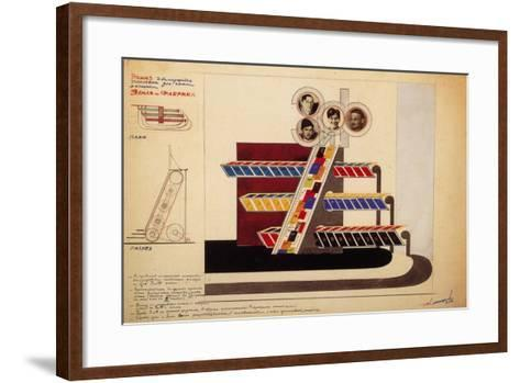 Movable Display for the Bookstore Window of the Publishing Land and Factory-El Lissitzky-Framed Art Print