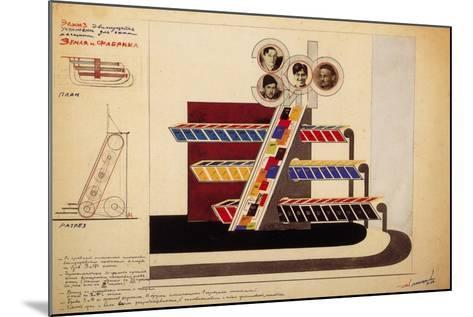 Movable Display for the Bookstore Window of the Publishing Land and Factory-El Lissitzky-Mounted Giclee Print