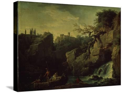 Romantic Landscape (Landscape in the Taste of Salvatore Ros), 1746-Claude Joseph Vernet-Stretched Canvas Print