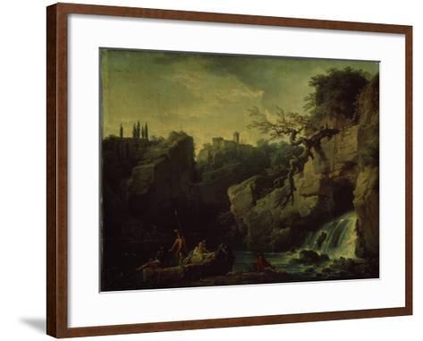 Romantic Landscape (Landscape in the Taste of Salvatore Ros), 1746-Claude Joseph Vernet-Framed Art Print