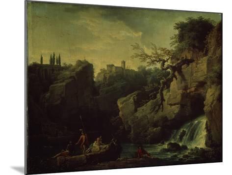 Romantic Landscape (Landscape in the Taste of Salvatore Ros), 1746-Claude Joseph Vernet-Mounted Giclee Print