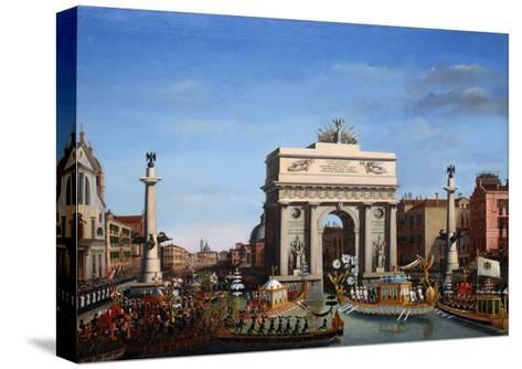 The Entry of Napoleon into Venice on the 29th of November 1807-Giuseppe Borsato-Stretched Canvas Print