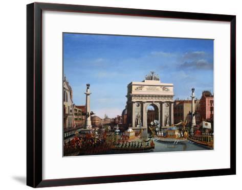 The Entry of Napoleon into Venice on the 29th of November 1807-Giuseppe Borsato-Framed Art Print
