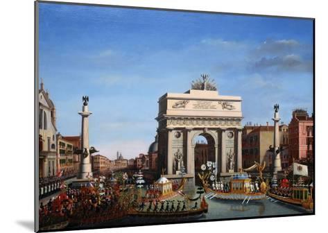 The Entry of Napoleon into Venice on the 29th of November 1807-Giuseppe Borsato-Mounted Giclee Print