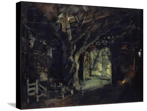Stage Design for the Opera the Valkyrie by R. Wagner, 1919-Konstantin Alexeyevich Korovin-Stretched Canvas Print