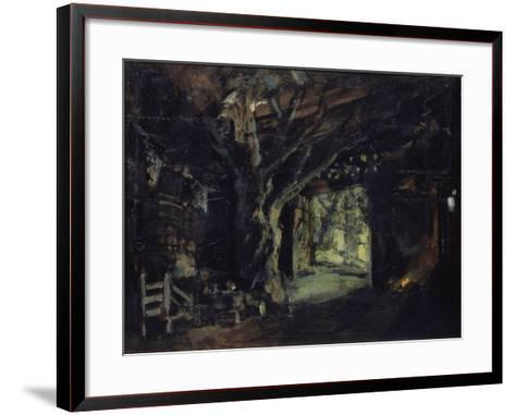 Stage Design for the Opera the Valkyrie by R. Wagner, 1919-Konstantin Alexeyevich Korovin-Framed Art Print
