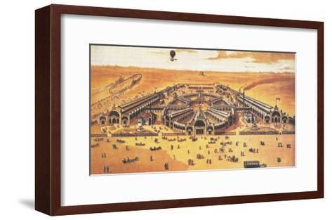 View of the All-Russian Exhibition of 1882 (Khodynka, Mosco), 1882--Framed Art Print
