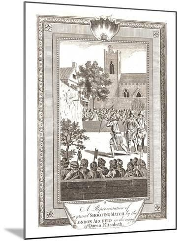 Representations of the Shooting Match by the London Archers in the Reign of Queen Elizabeth, 1793--Mounted Giclee Print