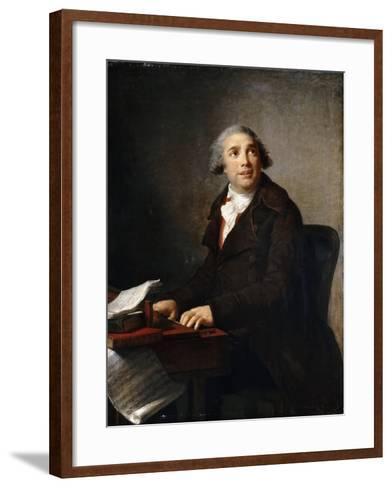 Portrait of Giovanni Paisiello (1740-181) at the Harpsichord-Marie Louise Elisabeth Vig?e-Lebrun-Framed Art Print