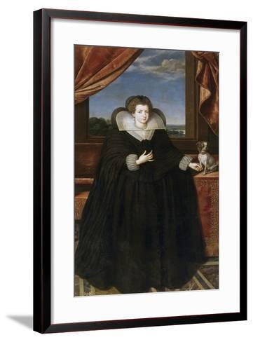 Portrait of Queen Elisabeth of France (1602-164), Queen Consort of Spain-Frans Francken the Younger-Framed Art Print