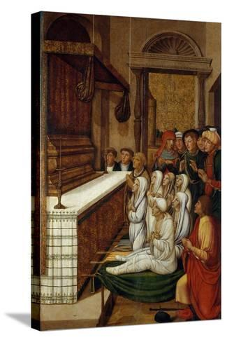 Six Resurrections before the Relics of Saint Stephen-Pere Gascó-Stretched Canvas Print
