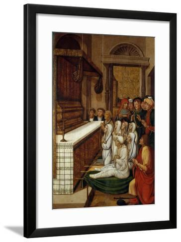 Six Resurrections before the Relics of Saint Stephen-Pere Gascó-Framed Art Print