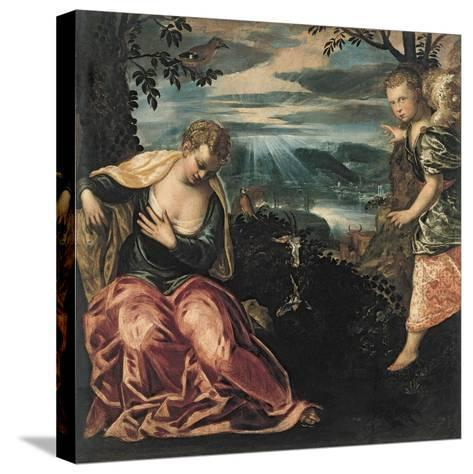 The Annunciation to Manoah's Wife-Jacopo Tintoretto-Stretched Canvas Print